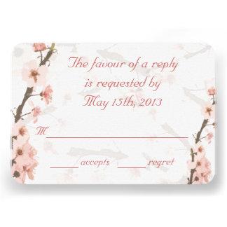 RSVP card to match my Cherry Blossom Invites