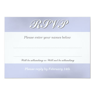 RSVP Card to Match the White Orchid Flower 13 Cm X 18 Cm Invitation Card