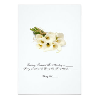 "RSVP card  -  Wedding Invitation ""Calla Lilies'"