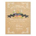 RSVP Cards Deer Antler Wildflower Starburst Rustic 11 Cm X 14 Cm Invitation Card
