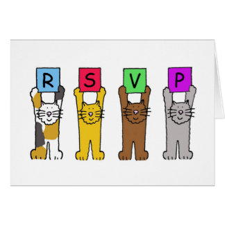 RSVP Cartoon cats. Card