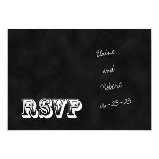 RSVP Chalkboard Style Wedding Invitation Card