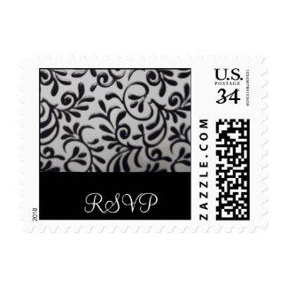 RSVP Damask Swirl Postage Stamp
