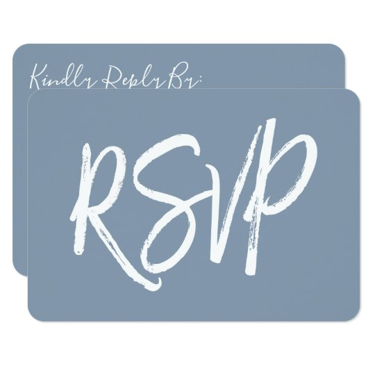 RSVP - Dusty Blue Wedding Response Card