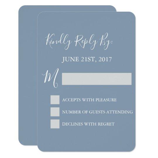 RSVP - Dusty Blue Wedding Response Card