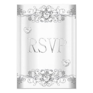 RSVP Elegant Event Gold Silver White Card