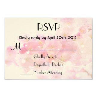 RSVP Elegant Pastel Pink Cherry Blossoms 3.5x5 Paper Invitation Card