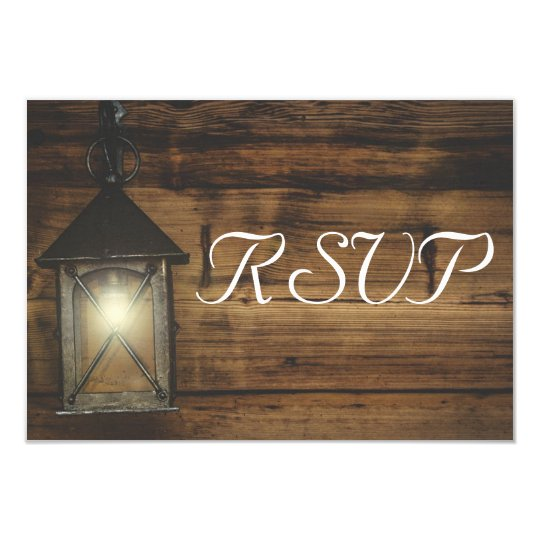 RSVP Elegant Rustic Lantern Lights Card