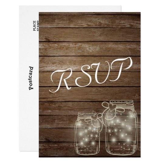RSVP Elegant Rustic Mason Jar Lights matching Card