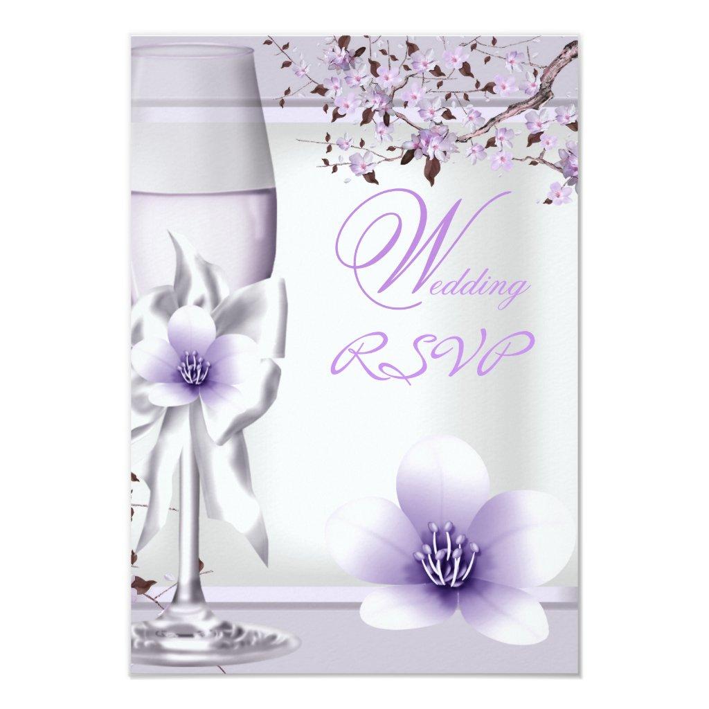 RSVP Elegant Wedding Lavender Purple Lilac 6