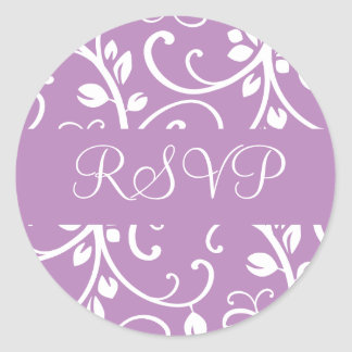 RSVP Floral Vine Envelope Sticker Seal
