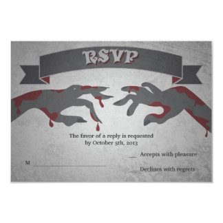 RSVP for A Zombie Wedding Invitation