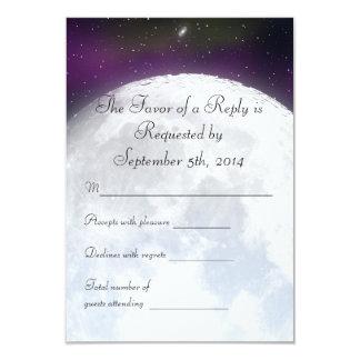 RSVP for Space Themed Wedding 9 Cm X 13 Cm Invitation Card