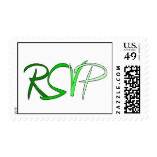 RSVP Greens Postage Stamp