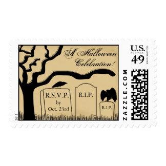 RSVP Halloween Party Postage Stamp