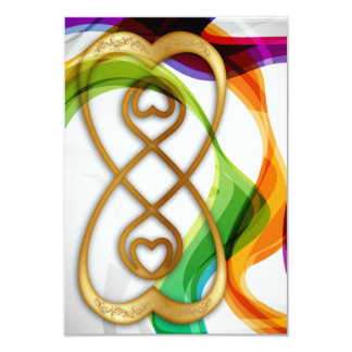 RSVP Hearts Double Infinity & Rainbow Ribbons - 3 Card