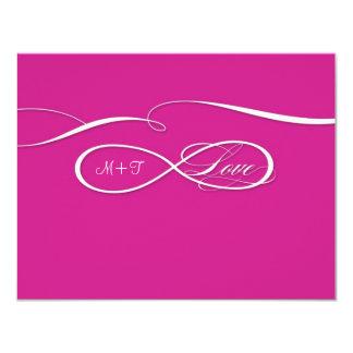 RSVP Infinity Symbol Sign Infinite Love Wedding 11 Cm X 14 Cm Invitation Card