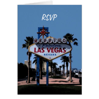 RSVP Las Vegas Wedding Card