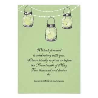 RSVP Mason Jar Wedding Custom Invitations