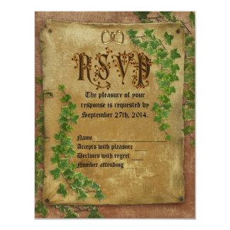 RSVP Medieval wedding Invitation