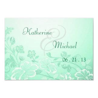 RSVP Mint Green Floral Posh Card