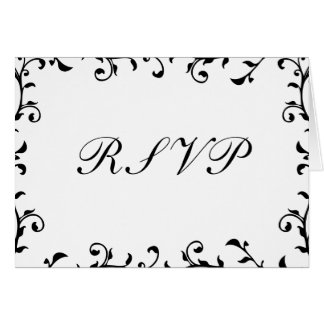RSVP Notecards, White Transparent Template