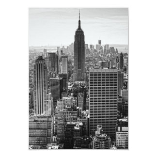 RSVP NY City Skyline Empire State Bldg, WTC BW 9 Cm X 13 Cm Invitation Card