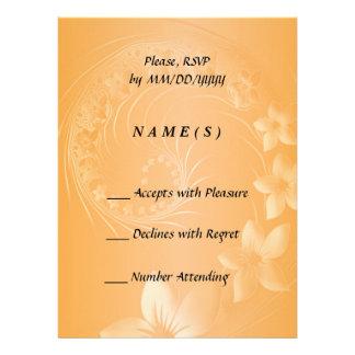 RSVP - Orange Abstract Flowers Invite