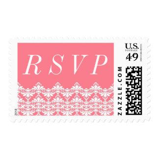 RSVP Postage Stamp Blush Antique Damask