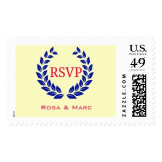RSVP Postage Stamp in Floral Pattern