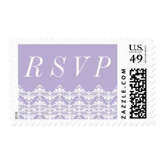 RSVP Postage Stamps Lilac Antique Damask