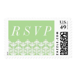 RSVP Postage Stamps Spring Antique Damask