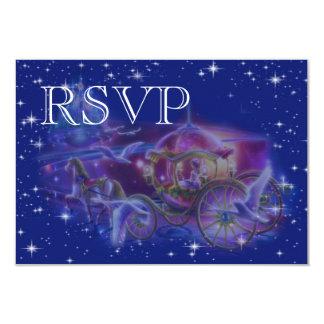 "RSVP Princess Fantasy Wedding invitation 3.5"" X 5"" Invitation Card"