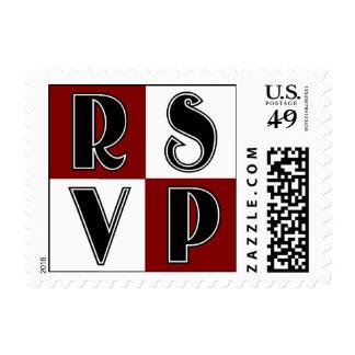 RSVP Red Postage Stamp