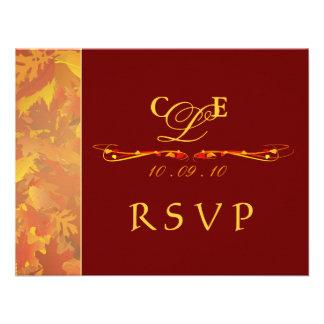 RSVP Reply Cards - Autumn Wedding Invitations