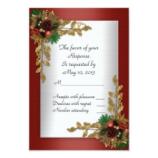 Rsvp response card holiday wedding invitation zazzle for Wedding invitations and rsvp cards all in one uk