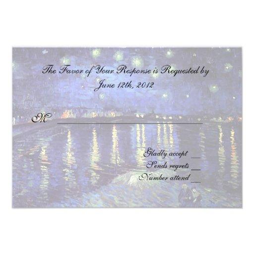 RSVP response card Invitation