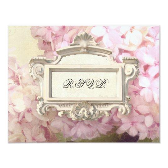 RSVP Response Parisian Vintage Hydrangea Manor Card
