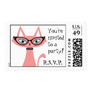 RSVP Retro Cat Postage Stamp
