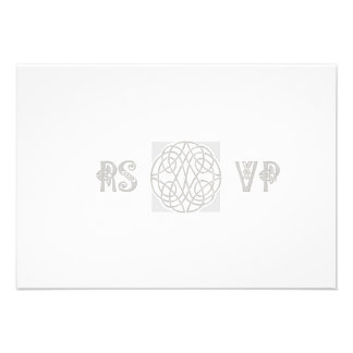 RSVP Silver Effect Celtic Knot on White Announcement