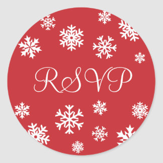 RSVP Snowflakes Envelope Sticker Seal