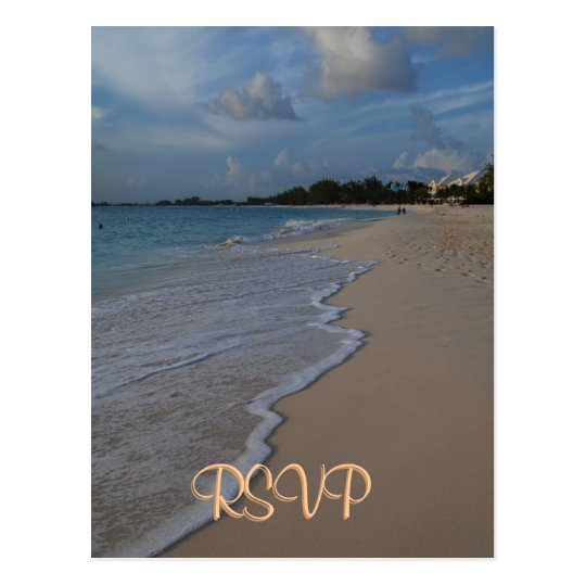 RSVP Special Beach Wedding Postcard