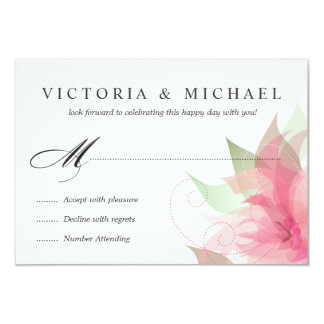 RSVP Stargazer Pink Watercolor Floral Reply Cards
