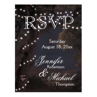 RSVP - String Lights Postcard