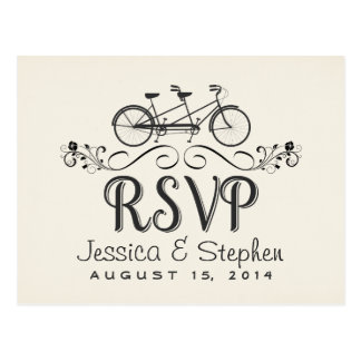 RSVP Tandem Bicycle for 2 Reply Postcards