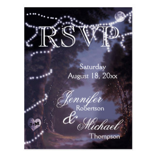 RSVP - Tree Lights Postcard