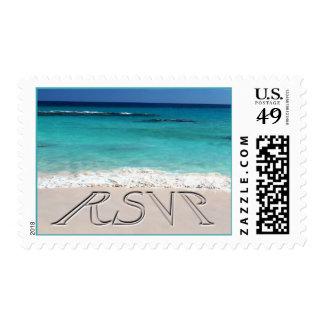 RSVP Tropical Sand Wedding Postage
