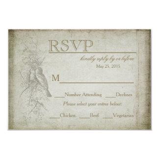 RSVP - VINTAGE BIRD WEDDING COLLECTION 9 CM X 13 CM INVITATION CARD