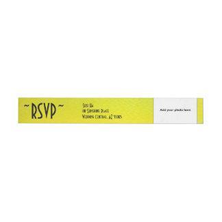 RSVP Watercolor Personal Photo Return Address Wrap Around Label