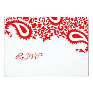 RSVP Wedding Card with Food Option 9 Cm X 13 Cm Invitation Card